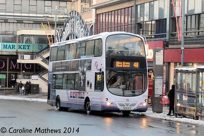 First 37474 (YN08NLO), Haymarket, Sheffield, 27th December 2014