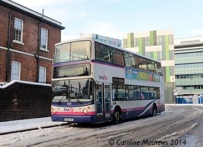 First 31129 (YU52VYE), Gell Street, Sheffield, 27th December 2014