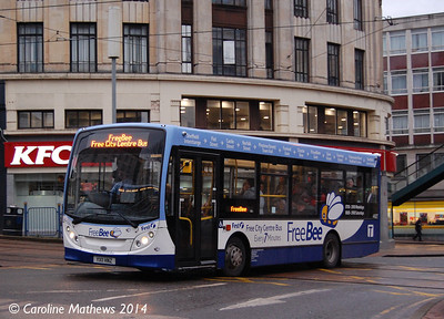 First 44927 (YX11HNZ), Haymarket, Sheffield, 4th January 2014