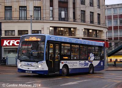 First 44927 (YX11HNZ), Haymarket, Sheffield, 4th January 2014