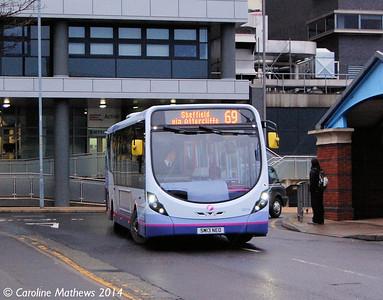 First 63014 (SM13NEO), Harmer Lane, Sheffield, 4th January 2014