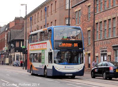 Stagecoach 19071 (MX56FTD), West Street, Sheffield, 31st July 2014