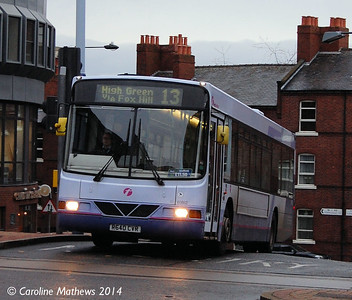 First 60862 (R640CVR), Townhead Street, Sheffield, 4th January 2014