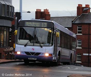 First 60862 (R640CVR), Townhead Street, Sheffield, 4th January 2014
