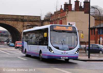 FIrst 63001 (SM13NDJ), Sheffield, 4th January 2014