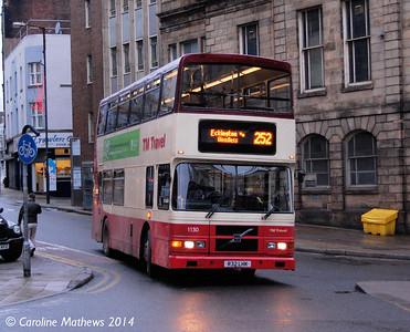TM Travel 1130 (R32LHK), Castle Street, Sheffield, 4th January 2014