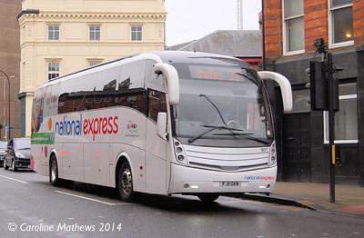 Travel de Courcey MD7 (FJ11GKN), Lady's Bridge, Sheffield, 4th January 2014