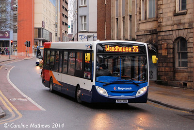 Stagecoach 36997 (YX63LHG), Waingate, Sheffield, 4th January 2014