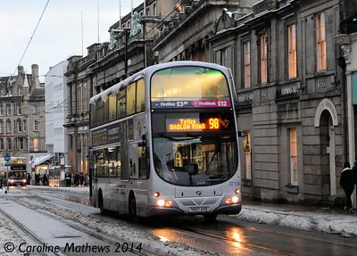 First 37106 (YK07AYD), Church Street, Sheffield, 27th December 2014