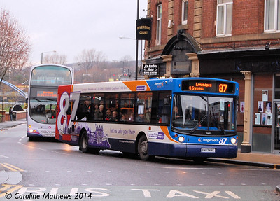 Stagecoach 22432 (YN07KRE), Nursery Street, Sheffield, 4th January 2014