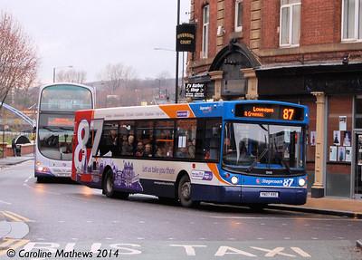 Stagecoach 22432 (YN07KRE), Nursery Street, Sheffield, 4th January 2014