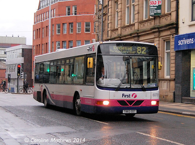First 60701 (T883ODT), Sheffield, 4th January 2014