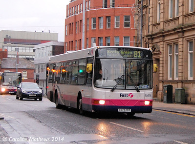 First 60695 (T877ODT), Leopold Street, Sheffield, 4th January 2014