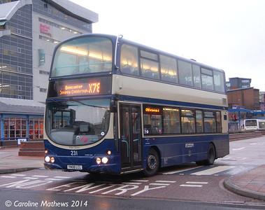 First 37231 (YN08LCL), Transport Interchange, Sheffield, 4th January 2014