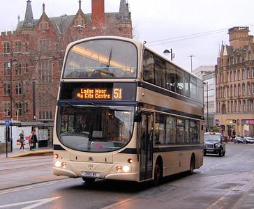 First 37229 (3910WE), Church Street, Sheffield, 4th January 2014