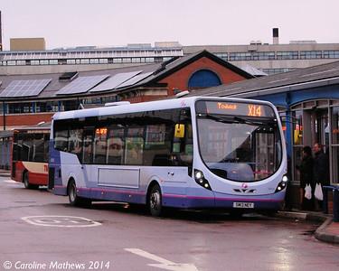 First 63016 (SM13NEY), Transport Interchange, Sheffield, 4th January 2014