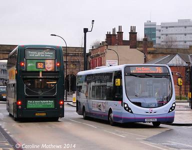FIrst 63030 (SK63KHG), Sheffield, 4th January 2014