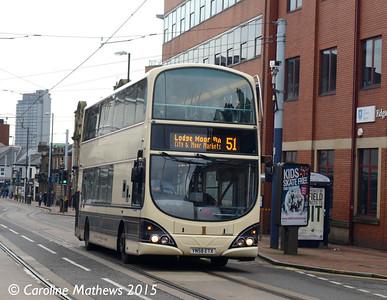 First 37528 (YN58ETX), Glossop Road, Sheffield, 28th December 2015