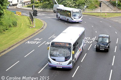 First 63125 (SN14DVV), Park Square, Sheffield, 29th May 2015