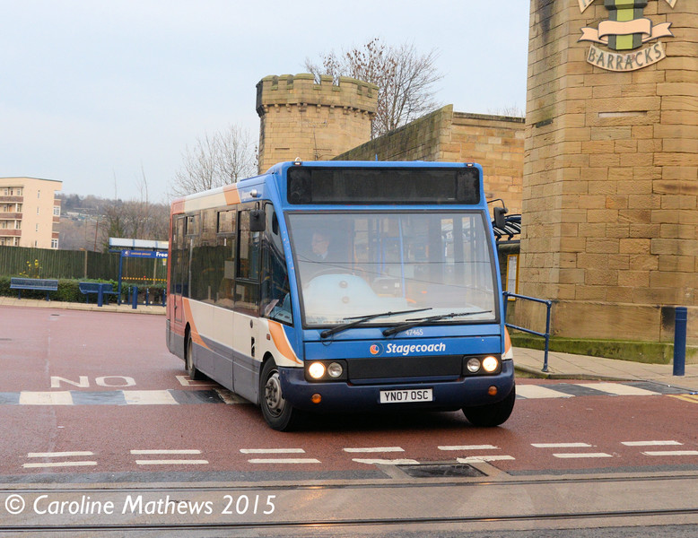 Stagecoach 47465 (YN07OSC), Hillsborough Interchange, Sheffield, 28th December 2015