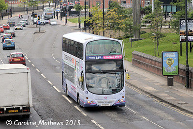 First 37511 (YN58ESG), Sheaf Street, Sheffield, 30th May 2015