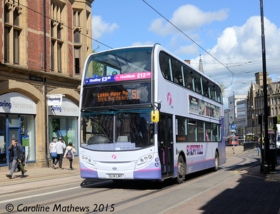 First 33870 (SL14LMY), Church Street,  Sheffield, 29th May 2015