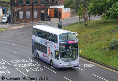 First 37110 (YK07AYH), Park Square, Sheffield, 29th May 2015