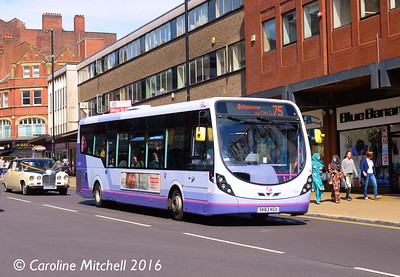 First 63021 (SK63KGX), Pinstone Street, Sheffield, 5th August 2016