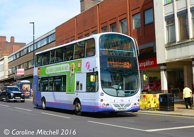 First 37264 (YN07MLO), Pinstone Street, Sheffield, 5th August 2016