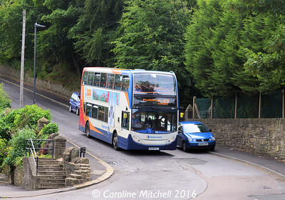 Stagecoach 19513 (MX09KSJ), Nanny Hill, Stocksbridge, 5th August 2016