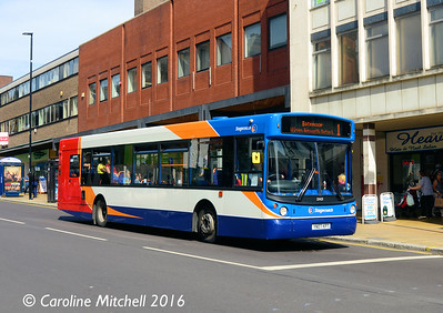 Stagecoach 22425 (YN07KPT), Pinstone Street, Sheffield, 5th August 2016