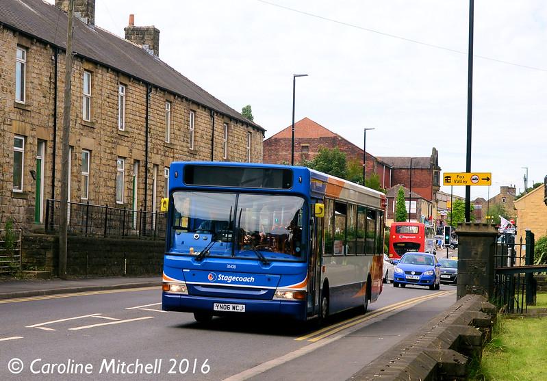 Stagecoach 35108 (YN06WCJ), Manchester Road, Stocksbridge, 5th August 2016