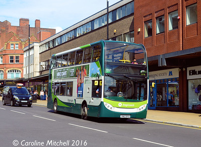 Stagecoach 12176 (YN62BYU), Pinstone Street, Sheffield, 5th August 2016