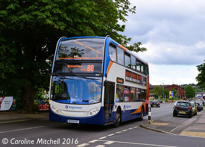 Stagecoach 19512 (MX09KSF), Ecclesfield Common, Sheffield, 3rd August 2016