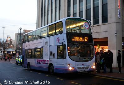 First 37489 (YN08NMU), High Street, Sheffield, 27th December 2016