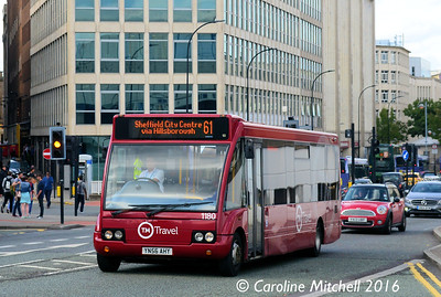 TM Travel 1180 (YN56AHY), Arundel Gate, Sheffield, 5th August 2016