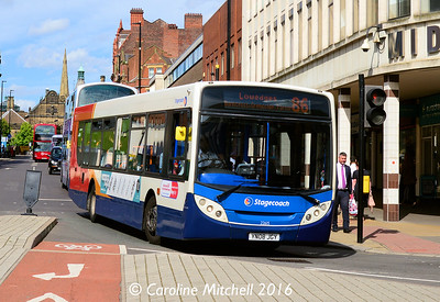 Stagecoach 22615 (YN08JGY), Pinstone Street, Sheffield, 5th August 2016