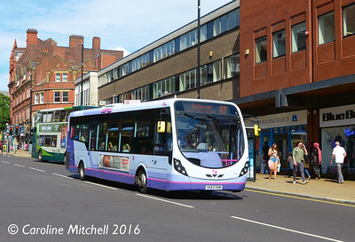 First 63034 (SK63KHM), Pinstone Street, Sheffield, 5th August 2016