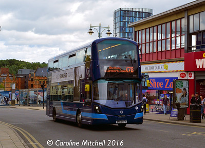 First 35128 (SM65GFY), Haymarket, Sheffield, 3rd August 2016