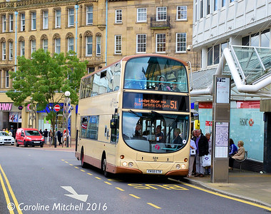 First 37524 (YN58ETR), Church Street, Sheffield, 3rd August 2016