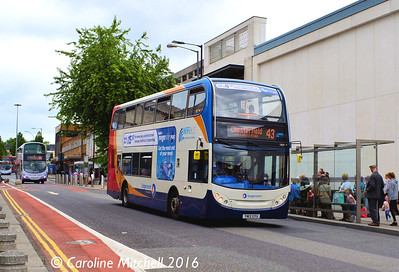 Stagecoach 15829 (YN12GYU), Cumberland Street, Sheffield, 3rd August 2016