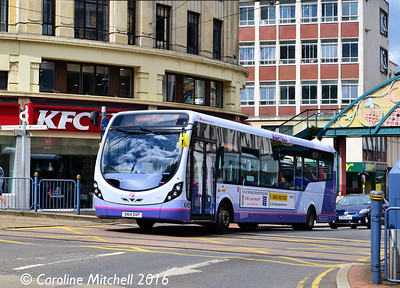 First 63121 (SN14DVP), Haymarket, Sheffield, 3rd August 2016