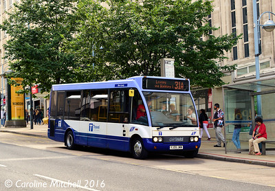 Sheffield Community Transport 08 (YJ05JWW), Angel Street, Sheffield, 3rd August 2016