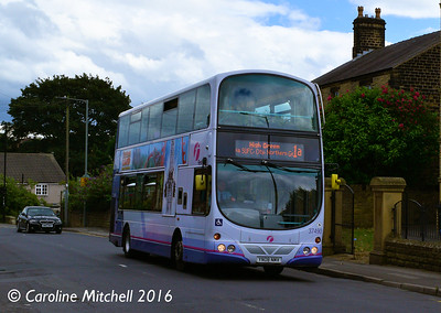 First 37490 (YN08NMV), High Street, Ecclesfield, Sheffield, 3rd August 2016