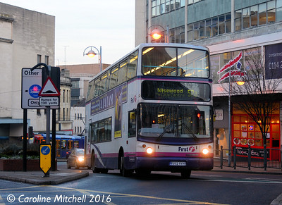 First 31132 (YU52VYH), Castle Square, Sheffield, 27th December 2016