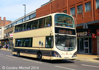 First 37528 (YN58ETX), Pinstone Street, Sheffield, 5th August 2016