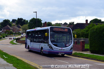 First 63027 (SK63KHD), Greaves Road, Ecclesfield, Sheffield, 3rd August 2016