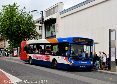 Stagecoach 22422 (YN07KPO), Cumberland Street, Sheffield, 3rd August 2016