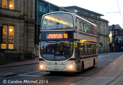 First 37229 (3910WE), West Street, Sheffield, 27th December 2016