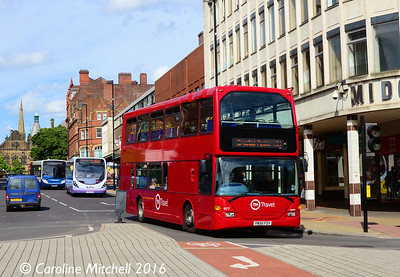 TM Travel 1177 (YN56FDY), Pinstone Street, Sheffield, 5th August 2016